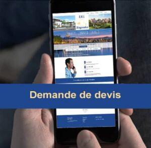 Ecran de tlphone avec vue sur le site de ERI Diagnostics diagnostiqueur immobiler  bordeaux