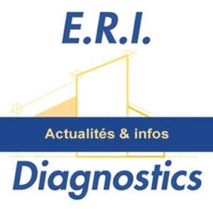 Logo Eri Diagnostics avec bandeau Actualit et Infos Sur limmobilier